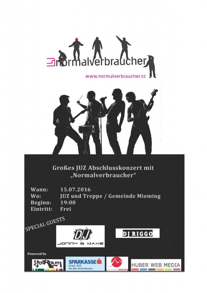 Flyer Konzertankündigung